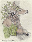 Deer Anthro Portrait by RussellTuller