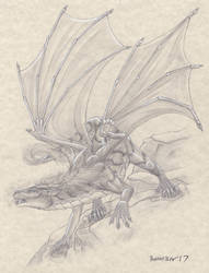 -Commission- Storm Nobleheart Dragon 2 by RussellTuller