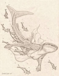 Anthropomorphic Whale Shark Female by RussellTuller