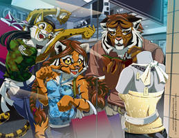 Cats at the Mall by Quasimanga