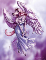 Pegasus Anthro in the Clouds by Quasimanga
