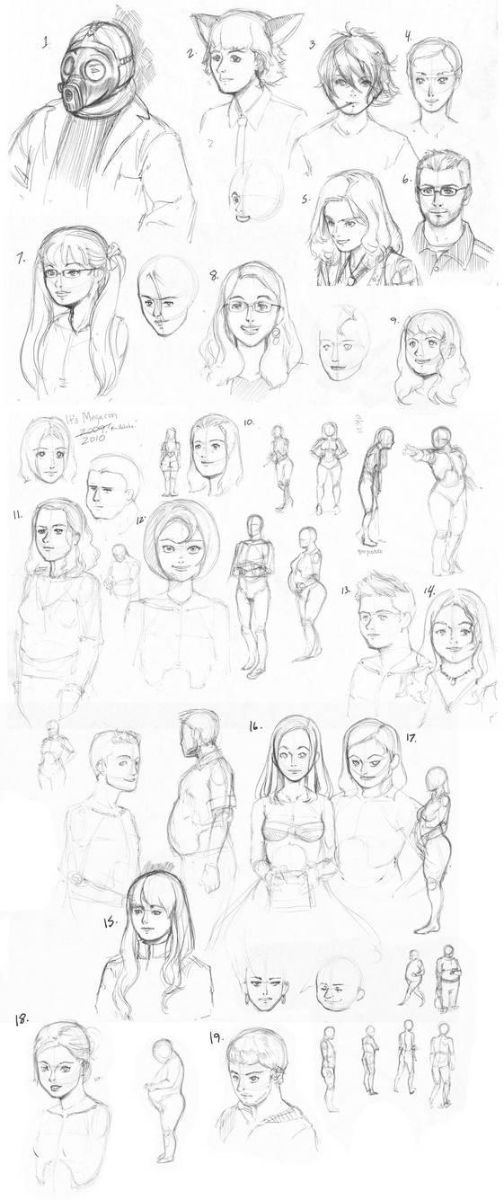 Megacon 2010 Face Sketch by Quasimanga