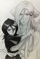 Bleach: Rukia and Shirayuki by Perryhan