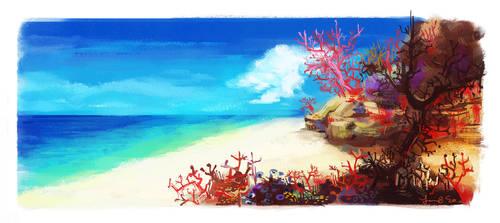 Opassa Beach by spicyroll