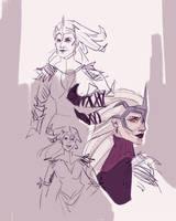 Flemeth sketches by spicyroll