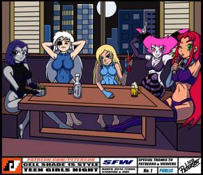 TEEN GIRLS NIGHT by PetersonArt