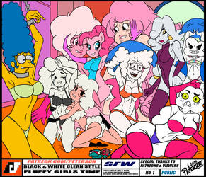 FLUFFY GIRLS TIME - FC PUBLIC SFW by PetersonArt
