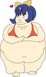 Fat Eiko coloured by TheSwedishElf