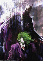 Batman and Joker by KidKazuya