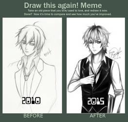 Draw This Again Meme: Touya Ouji by Ouji-Studio
