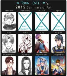 Touya Ouji's 2015 Art Summary by Ouji-Studio
