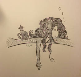 Sleepy (Inktober Day 7) by KathrynTheAnimator