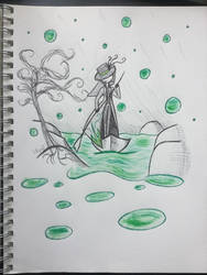 Flowing Down a Green River (Inktober Day 10) by KathrynTheAnimator