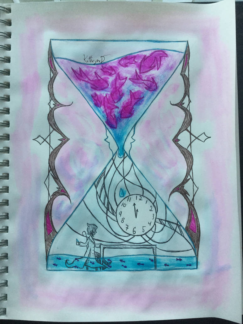 Fish Hourglass (Inktober Day 14) by KathrynTheAnimator