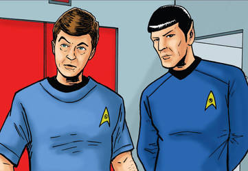 McCoy Spock by phymns