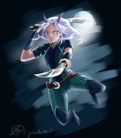 The Dragon Prince - Rayla - Assassin by jeriatwee