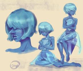 Sketch - Steven Universe - Blue Pearl by jeriatwee
