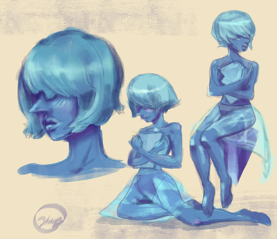 Just some coloring and body sketching practice :> Blue Pearl's art hobby is so precious, must protect. <3 Instagram: here