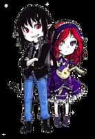 Shin and Chisa chibi by komicfans