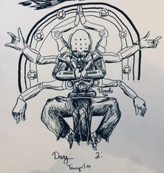 Inktober - DAY 2: Tranquil by Vimahi