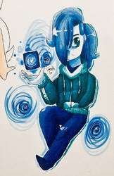 All blue doodle thing by Vimahi