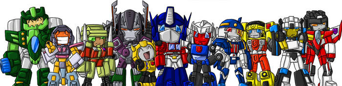 C.O Crew TF Chibi Brigade XD by Autobot-Windracer
