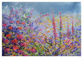 Rosemoor Hot Garden by Krystalvoyager
