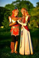 link and Zelda by neko-tin