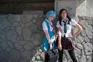 Rei and Mari by neko-tin
