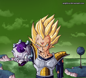 Universe 13: Vegeta kills Freezer by Argelios