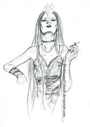 Amanda OC 20 min sketch by HoshisamaValmor
