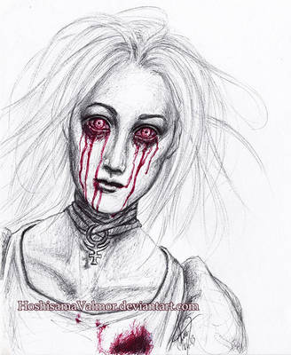 Hysteria Alice - pen drawing by HoshisamaValmor
