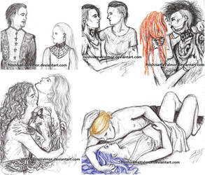 my ruins - couples sketch mix by HoshisamaValmor