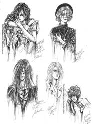 Angel Sanctuary pen sketches by HoshisamaValmor