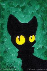 Jade Cat by EddiePerkins