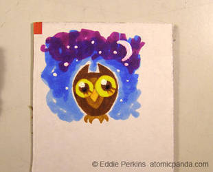 Tiny Owl color doodle by EddiePerkins