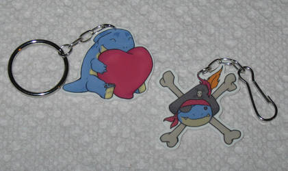 New Quaggan Plastics - Heart and Pirate by Erajia