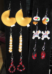 Earrings and Commissions by Erajia