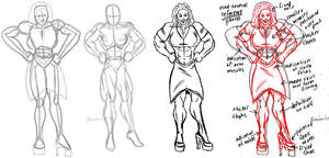 Big muscle girl by Benin6man Correction by ravendark82