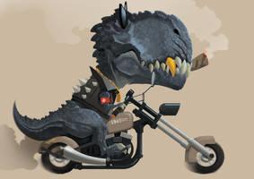 tyrannosaurus rex by SuperPLLC