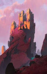 Wind cliff fortress by SuperPLLC