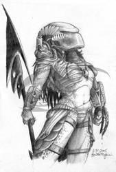 Predator: Female Yautja by opticalxarsenal