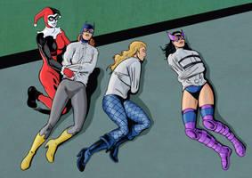 Superheroines commission 03 by Eviltrevor