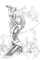 Magik Pencils Sketch card by Carl-Riley-Art