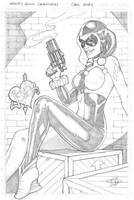 Harley Quinn A4 Commish by Carl-Riley-Art