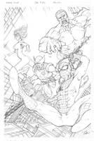 Spidey/ Marvel Pencils by Carl-Riley-Art