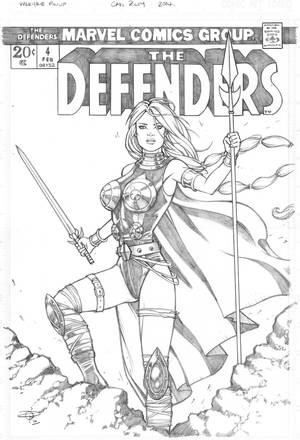 Valkyrie highres pencils by Carl-Riley-Art