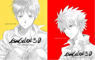 NGE - Evangelion - Kawoshin by aphin123