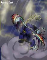 My creepy pony - Rainbow Dash by White-king2332