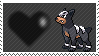 228 - Houndour by Marlenesstamps